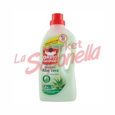 Detergent lichid Omino Bianco cu aloe vera 1500ml-30 spalari